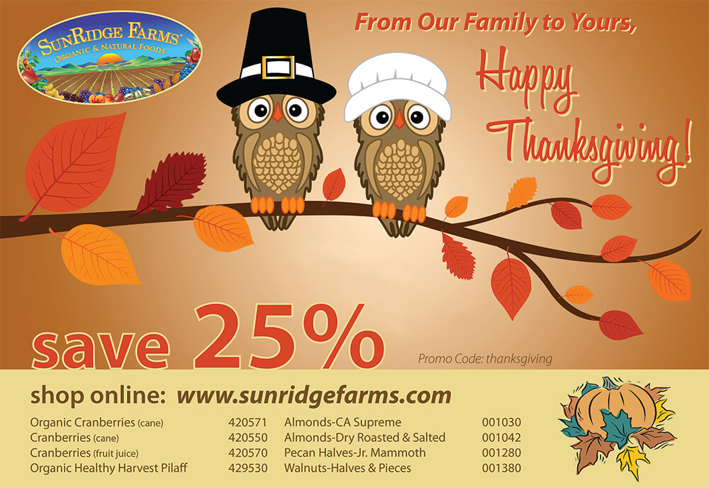 Thanksgiving Promos 2016 Sunridge Farms