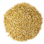 types of oats steel cut oats pile on white
