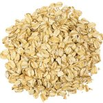rolled oats pile on white