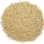 oat bran bulk pile on white