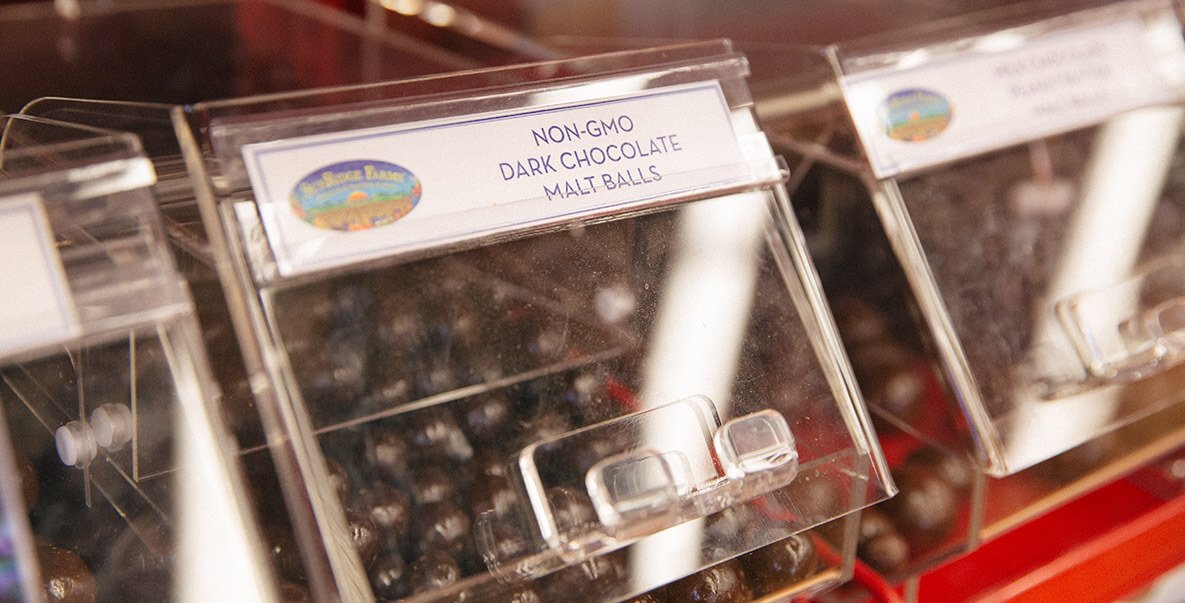 non-GMO Dark Chocolate Malt Balls SunRidge Farms