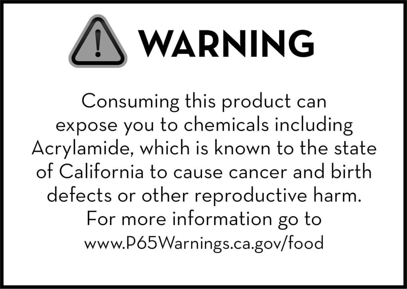California Prop 65 Information | SunRidge Farms